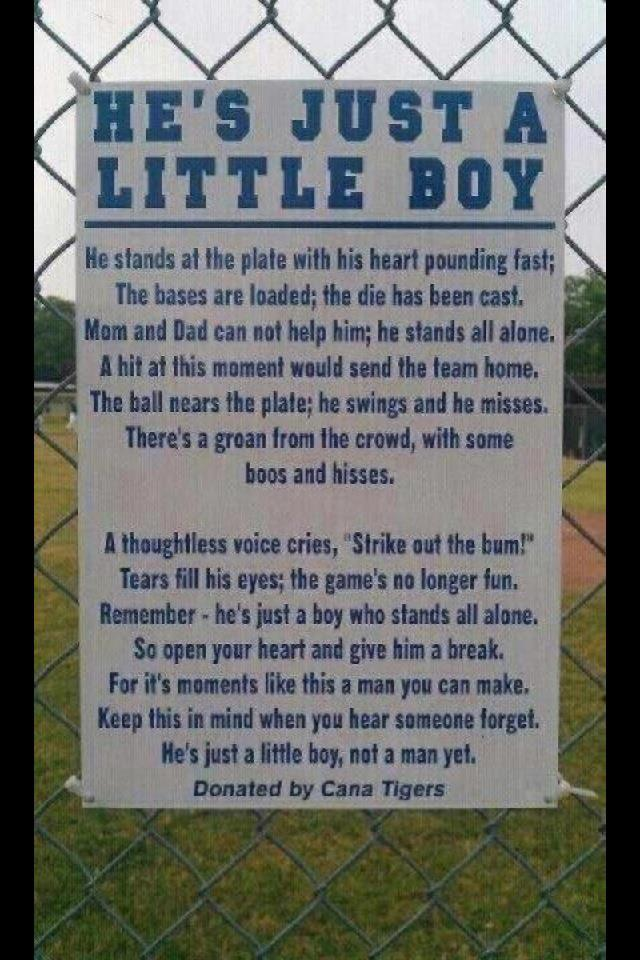 Viral Inspirational Poem Spreads To Youth Baseball Fields Around The Country (PHOTO)